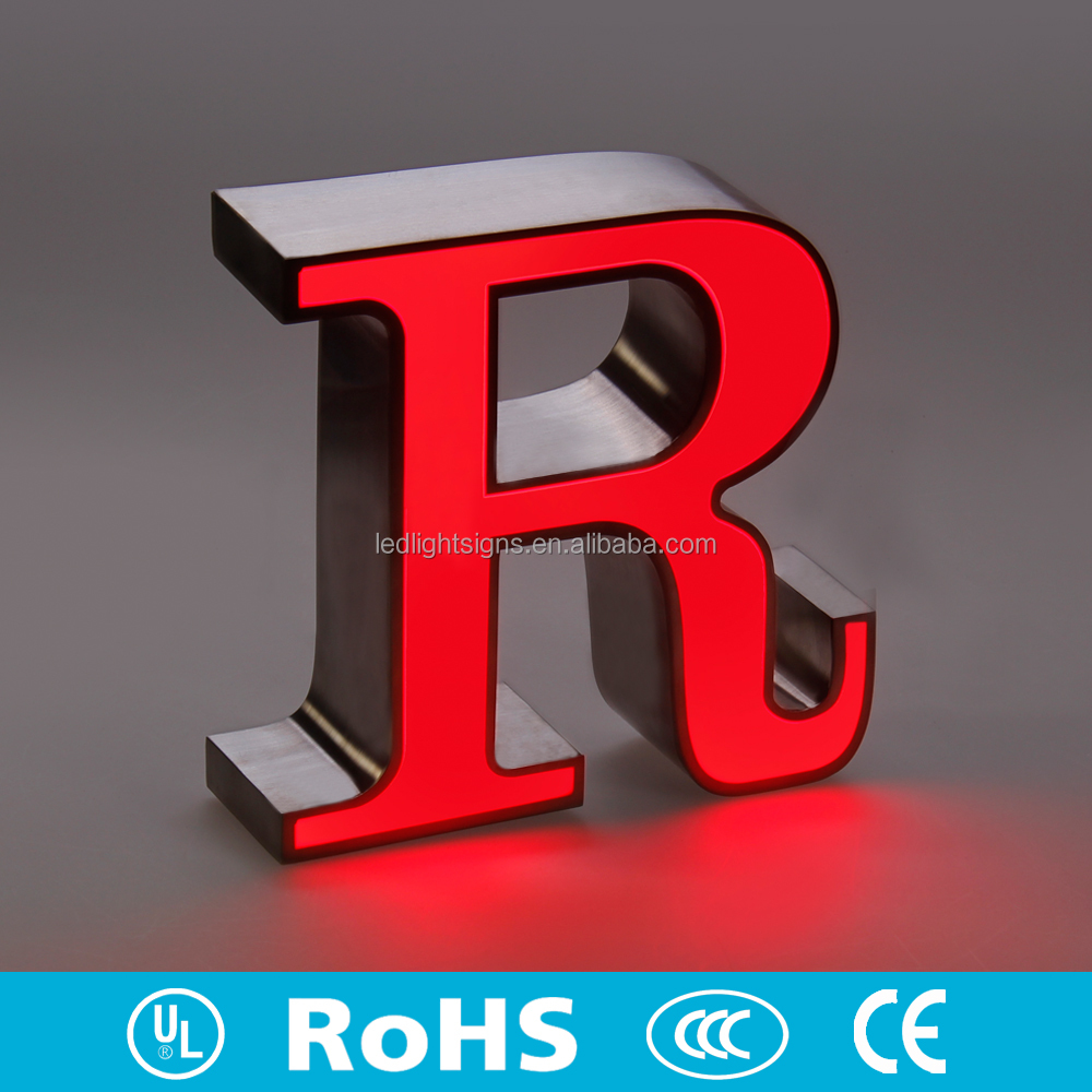 RGB light color different color LED metal aluminum channel letters christmas letter light used led signs outdoor