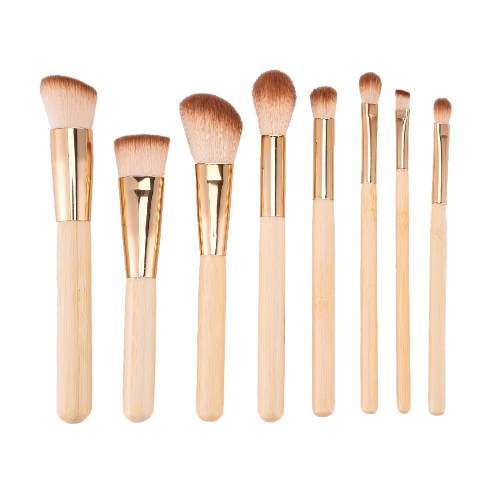Redcolourful 8Pcs Practical Cosmetic Nylon Makeup Brushes Multifunctional Makeup Brushes Set Tools