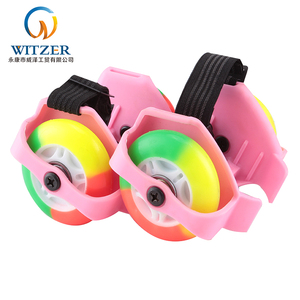 2018 New Design Adjustable Size Ce Approval Two-Wheel Flash Heel Roller Skate Wheel