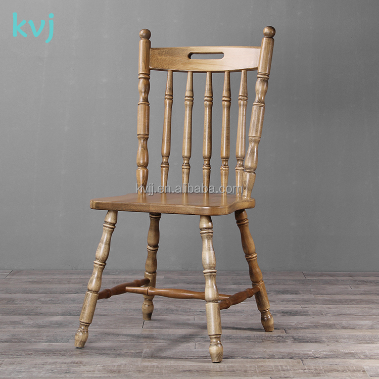 KVJ-7014-1 bamboo joint solid wood dining chair chinese tea chair windsor