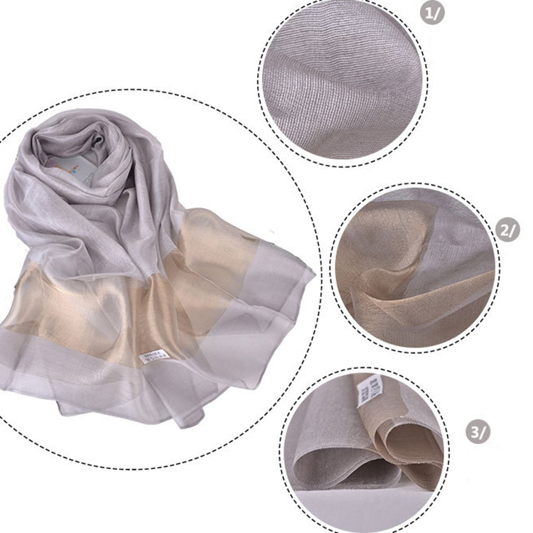 Luxury Woman Phnom Penh Shawls Pure Color Scarves Muslim Hijab Wholesale Silk Scarf