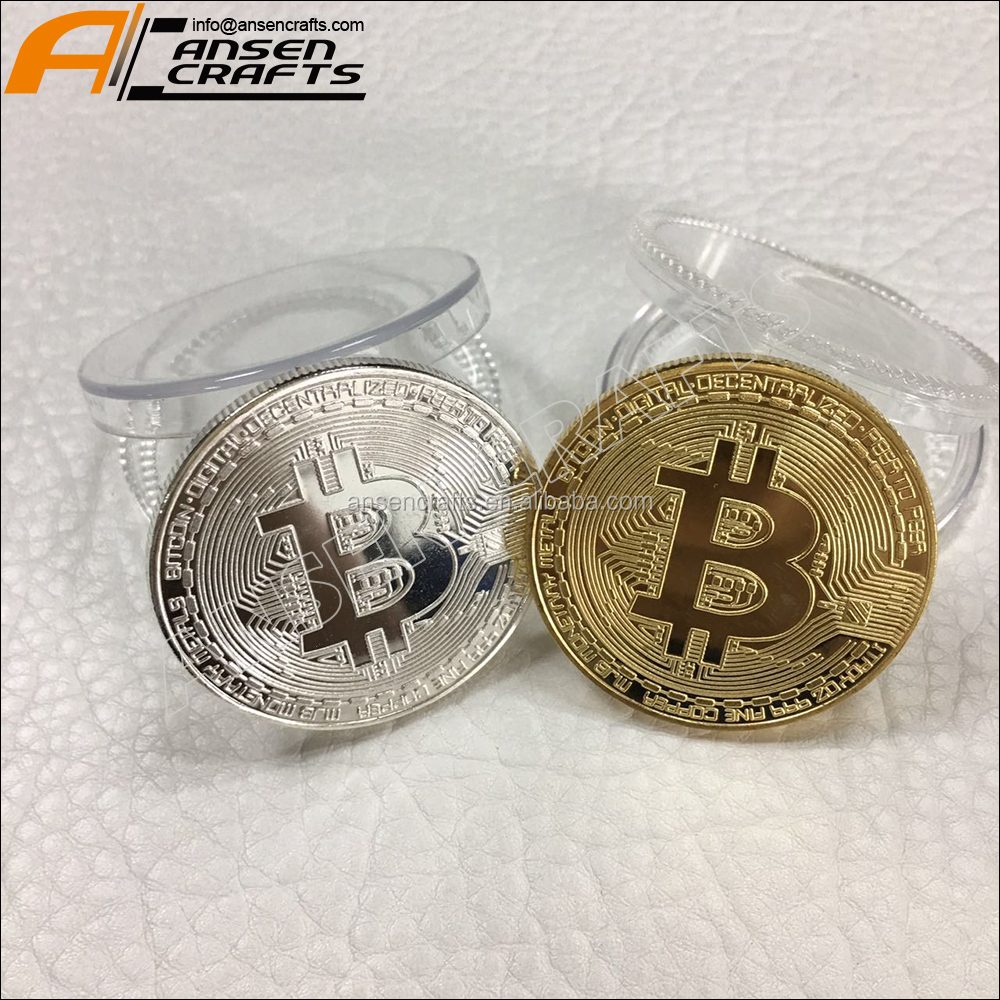 China Wholesale Metal Crafts Gold Commemorative Old Bitcoin Coin At Factory Price