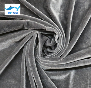 Shiny stretch micro velvet korea fabric for fashion dress/ tracksuit