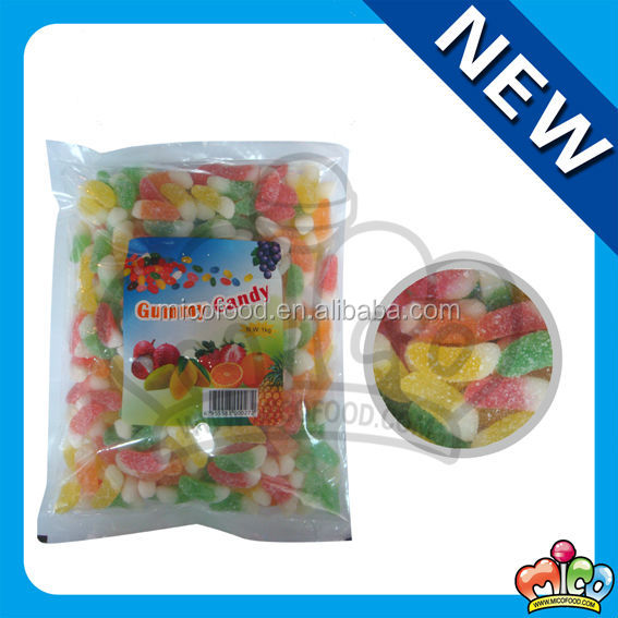 custom sugar coated soft jelly candy