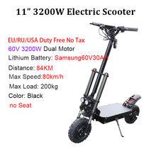 """2600 Вт/3200 Вт 80 км/ч Электрический скутер 105 на расстояние км мощный новый складной e скутер с сиденьем 11 """"взрослый скейтборд(Китай)"""