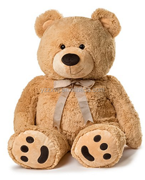 Huge Teddy Bear/feet embroidery paw cute stuffed brown bear toys/ popular lovely animal shaped huge giant teddy bear toys