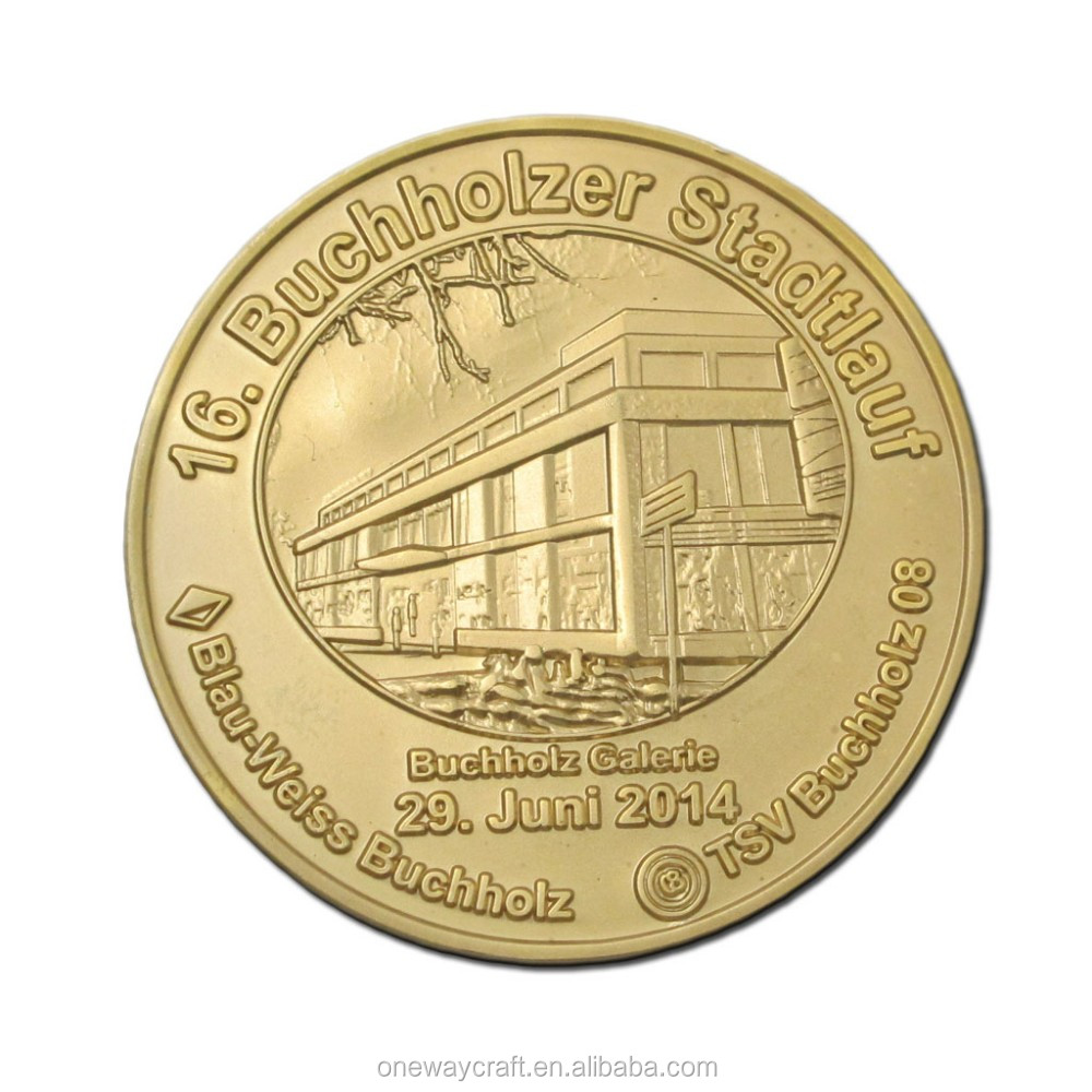 Factory price coins 3D coins no MQ coins with gold plating