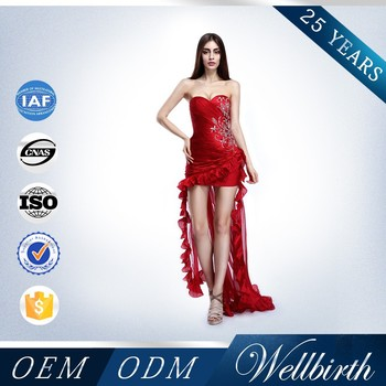 Red Short Tutu Prom Dresses With Trails - Buy Short Prom Dresses ...