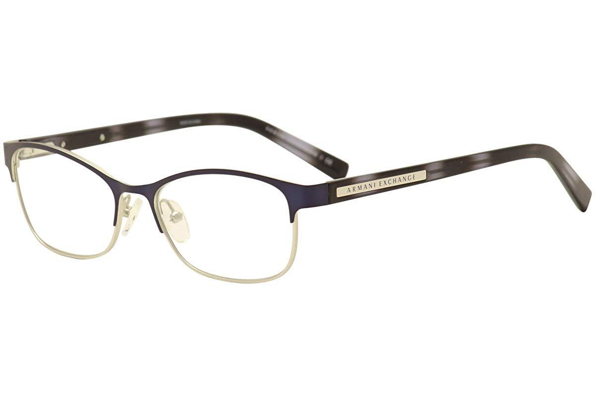 d0bee2c52122 Get Quotations · Eyeglasses Exchange Armani AX 1010 6110 NAVY BLUE MATTE  SILVER
