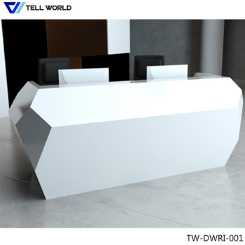 Superb Ready Made Office Receptionist Table / Stunning Company Worm Welcome Reception  Desk Counter