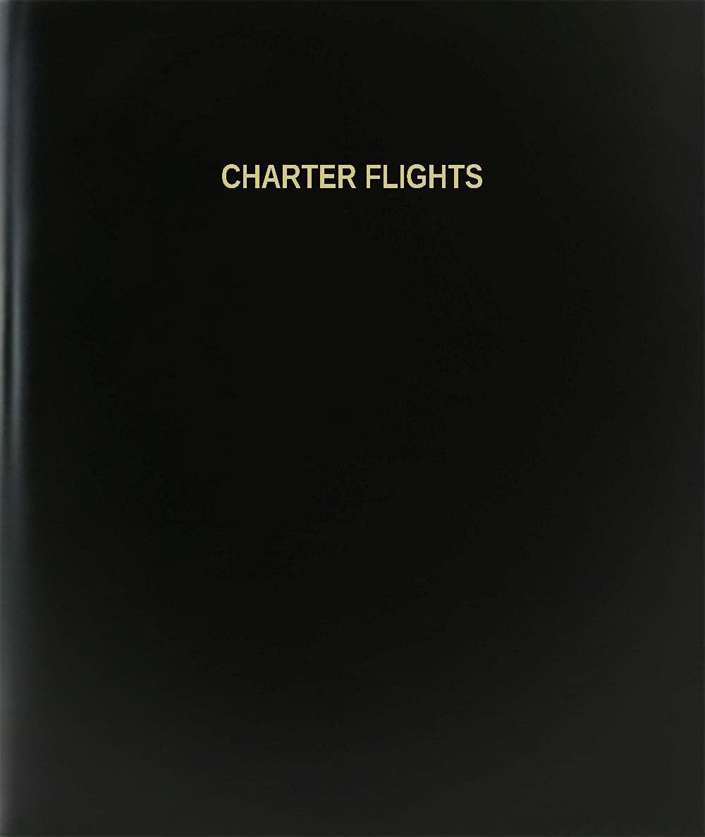"BookFactory® Charter Flights Log Book / Journal / Logbook - 120 Page, 8.5""x11"", Black Hardbound (XLog-120-7CS-A-L-Black(Charter Flights Log Book))"