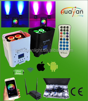 smartdj s4 ios android app wireless battery airdmx wifi app 6in1 led