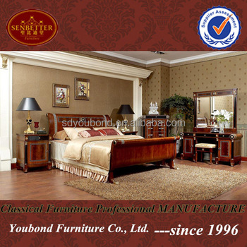 0010 High Quality Wood King Size Bed Used Bedroom Furniture For Sale