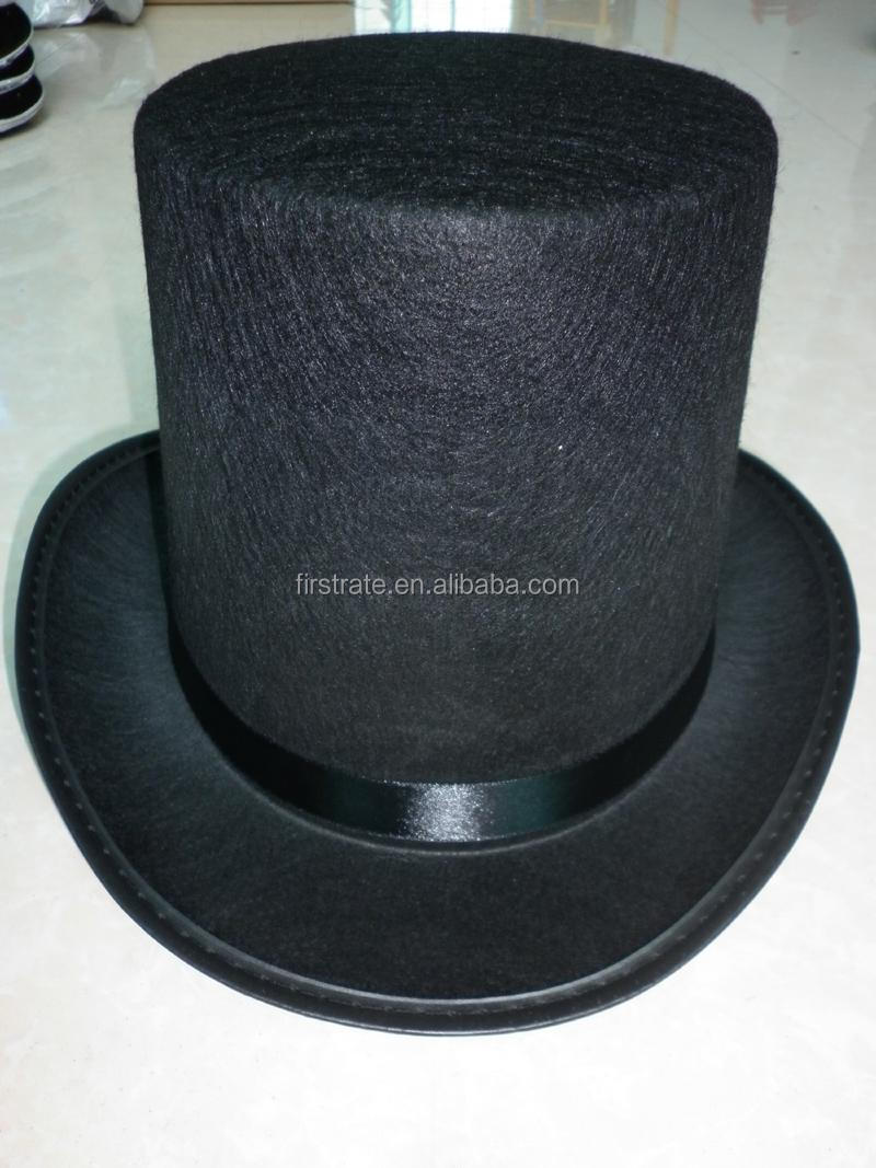 100% polyester felt mini top hat classic top hat gift hat