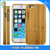 Fantastic Idea Ghrismas Gift Simple Style Bamboo Wood Phone case two parts cell cover for IPhone 6/6s/6 plus