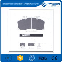 ISO Certified Company Manufactured Japan Truck Brake Pad WVA29835 for Hino