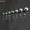 SLand Jewellery Manufacturer wholesale seamless small hole ball findings 925 sterling silver beads for bracelet DIY