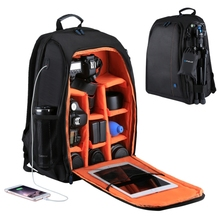 new arrival PULUZ Outdoor Portable Waterproof Scratch-proof Dual Shoulders Backpack Camera Bag