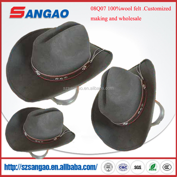 Wholesale Perfect Large Black Western Cowboy Hat For Women And Man With  Leather And Helmet Light Up - Buy Western Cowboy Hat,Walmart Cowboy