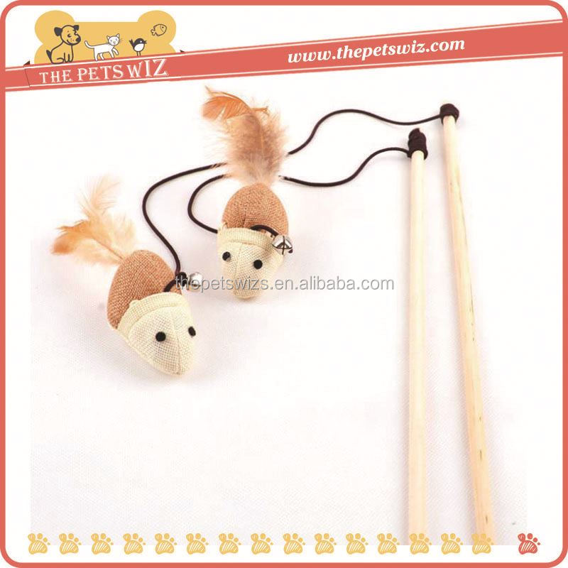 Virtual cat teaser ,CC066 interactive cat wand toy , fish rod cat teaser