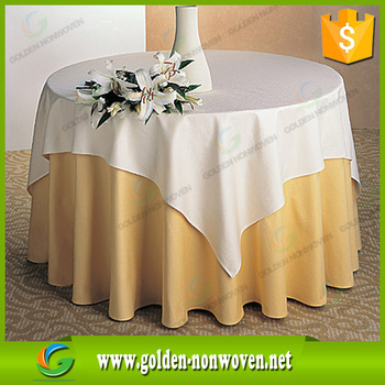 Pp Nonwoven Fabric Table Runner For Round Tables Cloth Counter Design