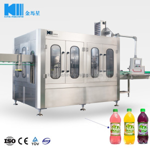 King Machine High Quality Automatic Bottle Juice Beverage 3 in 1 Filling Machine