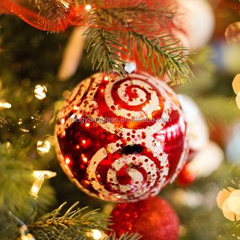 Christmas Decoration Supplies Hanging Christmas Glass Ball With