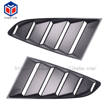 Car Side Window 1/4 Quarter Louver Scoop Cover For 2015-2018 Ford Mustang