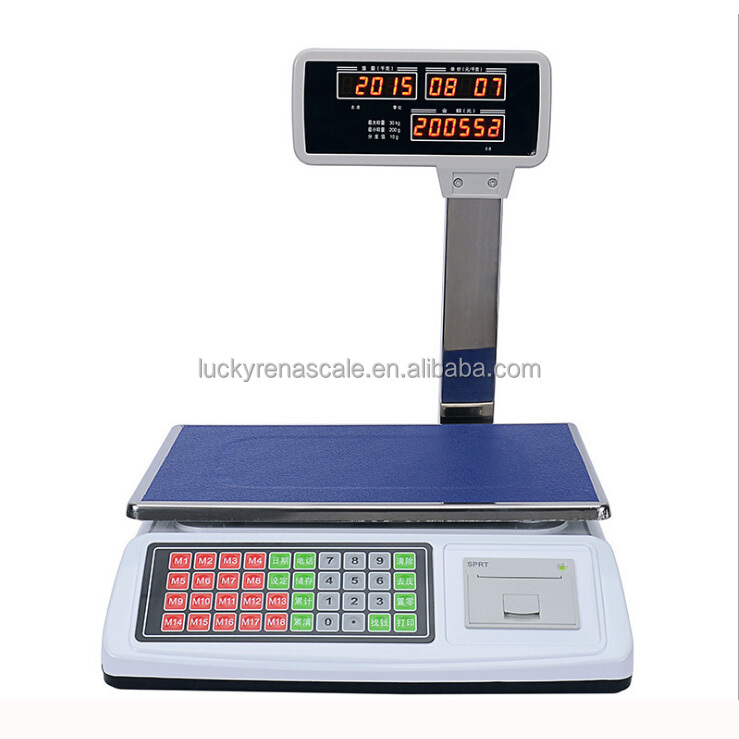 15kg 30kg weighting Digital Cash Register <strong>Scale</strong> with thermal Receipt Printer