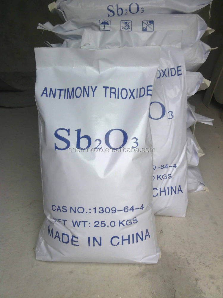 Flame retardant auxiliary agents Sb2O3 original package available