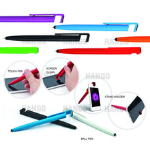 4 in 1 Stylus Touch Screen Cleaner Phone Stand Holder Plastic Ball Pen