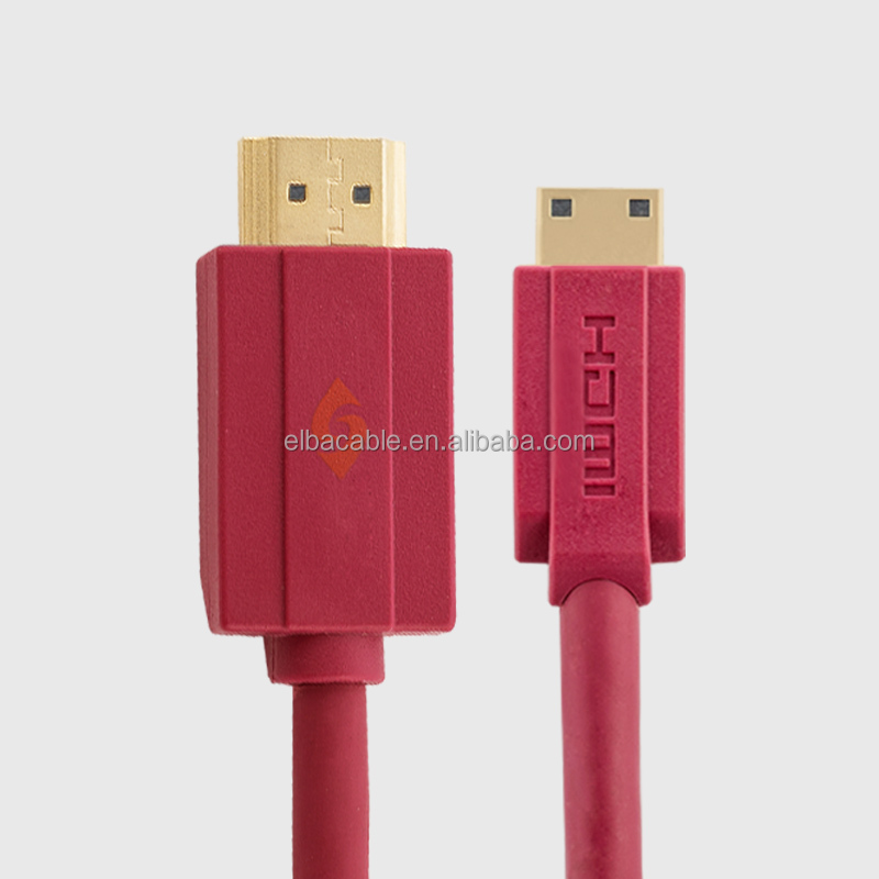 Hdmi Certificate Manufacturer Slim Mini Hdmi To Hdmi Cable For Tablet PC