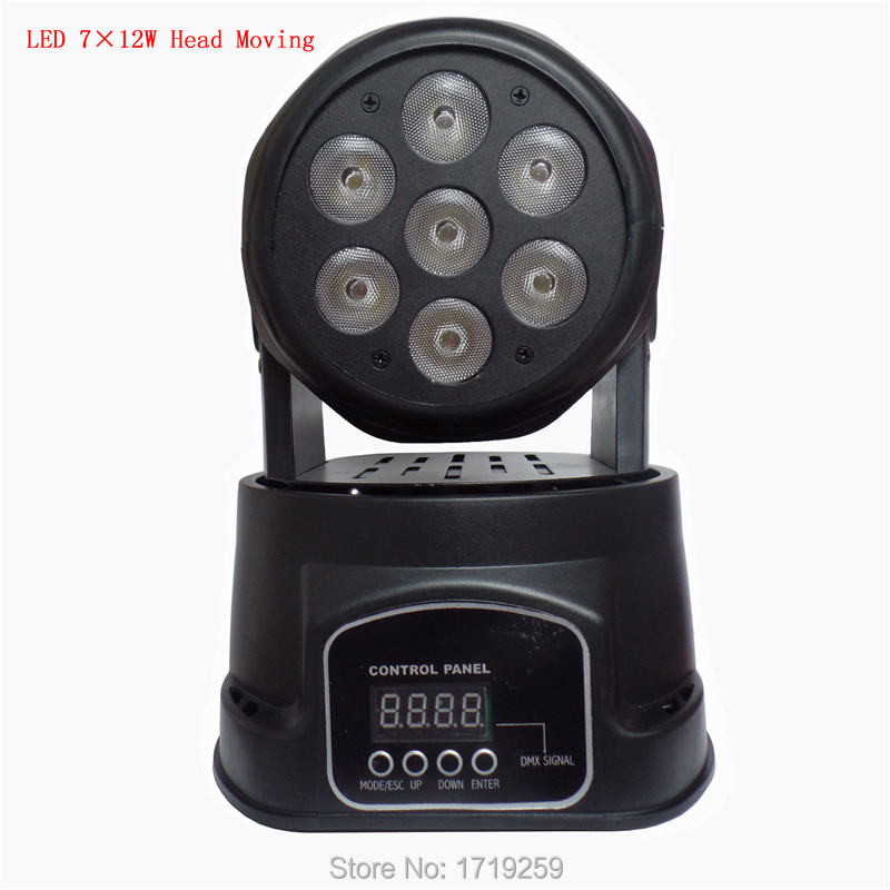 Fast Shipping  LED  moving head mini wash 7x12w rgbw quad with advanced 7/12 channels