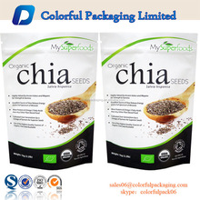 12oz ziplock stand up pouch chia seed packaging bag