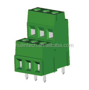 Double Row soldering terminal block pitch 5.0mm 5.08mm