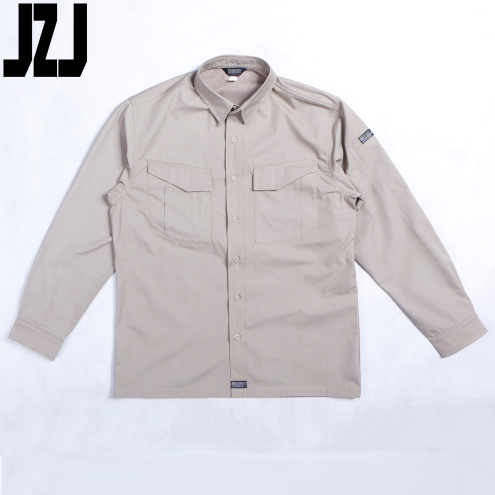 New Model Wuhan Factory All Cotton Long-sleeve Khaki Military Combat Shirt