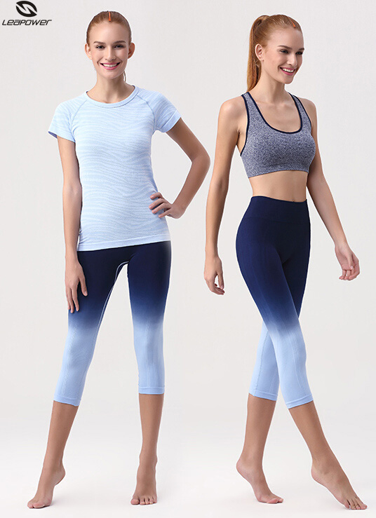 Custom Dry Fit Mixed Color Women Yoga Sports Wear Workout Set