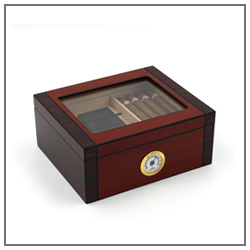 modern leather cigar travel humidor manufacturer wholesale solid cigar bag cedar wooden  cigar humidor