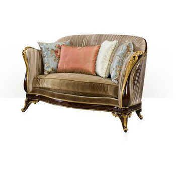 Elegant Velvet French Style Gold Leaf