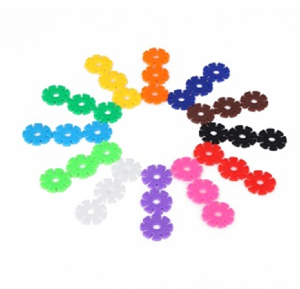 Anser Creative Educational & Creative Interlocking Plastic Disc Set, All Materials Tested for Children's Safety, Multi-color, 100 Pieces