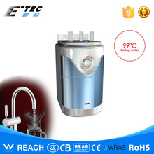 Vented hot water dispenser boiling water supply