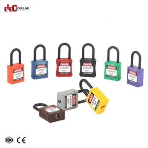 Electric Industrial Security Globe Brand Loto ABS Red Colour Safety Nylon Padlock