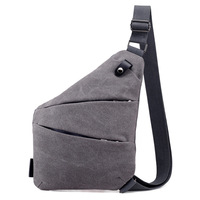 New fashion messenger crossbody casual simple single shoulder lightweight anti theft man canvas chest bag