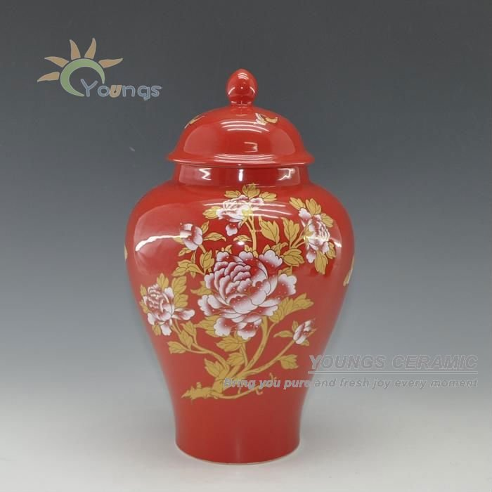 Chinese Red Wedding Decoration Vases Temple Jar Buy Wedding Vases