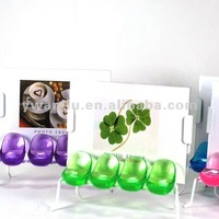 Supply creative fashion high quality crystal seat bus stop photo frame