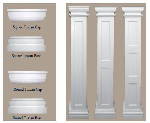 Decorative Column Molding Caps