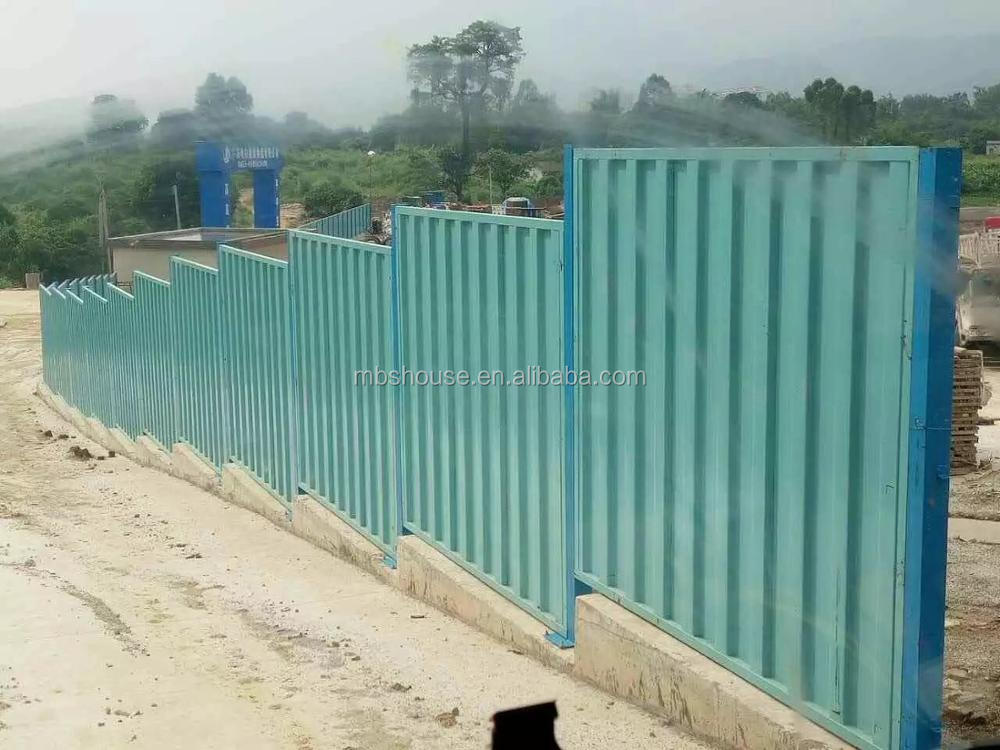Portable barrier wall safety fence construction