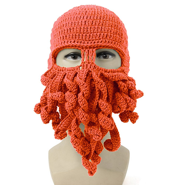 NEEVAS Unisex Octopus Warm Knitted Wool Ski Face Mask Knit Hat Squid Cap Beanie