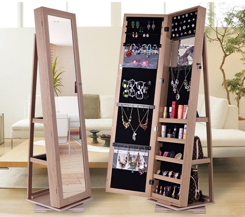 Full Length Rotating Mirror Jewelry Cabinet - Buy Jewelry ...