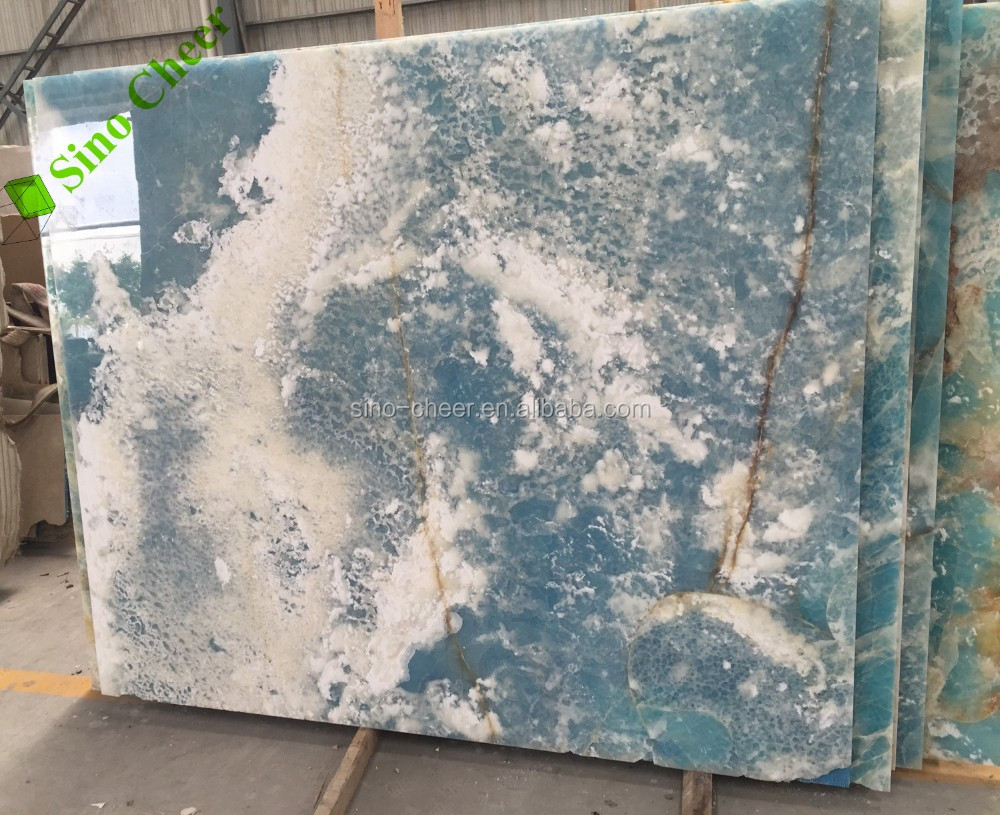 Polish Light Blue Veins White Marble Tils And Slabs Price
